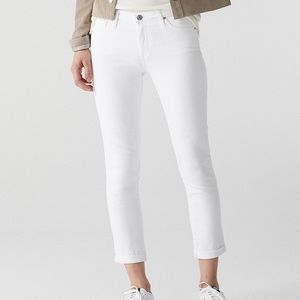 AG Adriano Goldschmied Prima Roll Up White Jeans